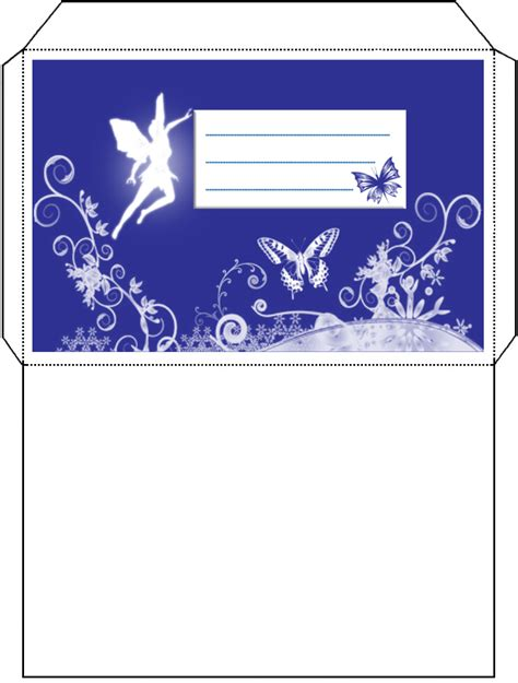 fairy envelope rooftop post printables