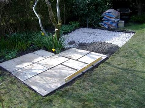 How To Lay A Patio Base by How To Build A Patio In A Weekend
