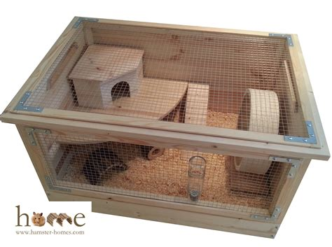 wooden cage large 75cm x 50cm wooden hamster cage