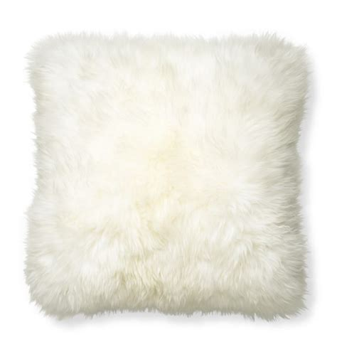 Sheepskin Pillow Covers by Sheepskin Pillow Cover Ivory Williams Sonoma