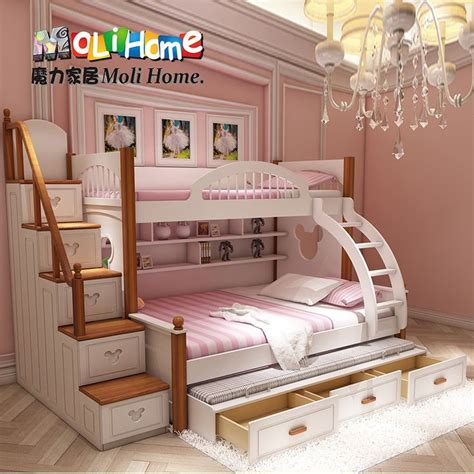 American Mediterranean Bed Bunk Bed Mother And Boy Child Bunk Beds Princess