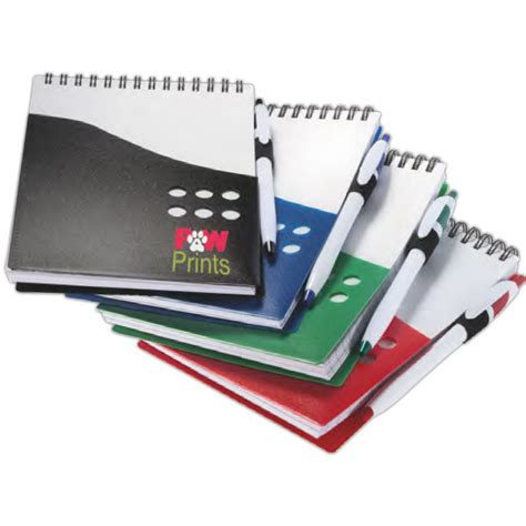 Notedo Pocket Notes Be Aware customized deluxe note jotter with pen usimprints