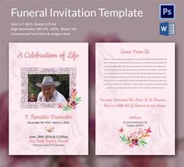 Funeral Letter Template by Sle Funeral Invitation Template 12 Documents In Word