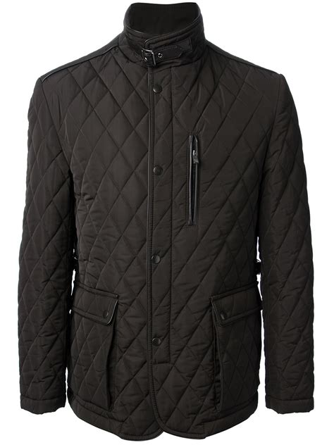 Quilted Jackets For by Corneliani Quilted Jacket In Black For Lyst