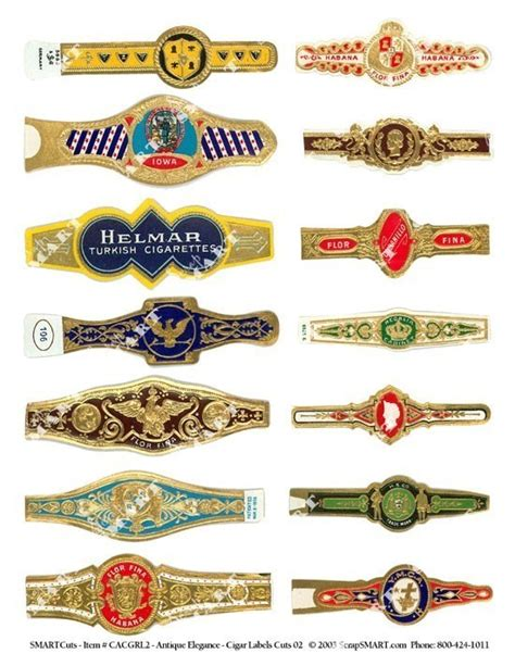cigar label template cigar labels 14 antique wrappers on a by vintageholidayshop