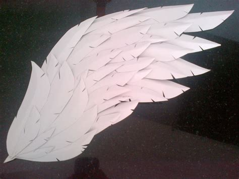 How To Make Paper Wings For A Costume - paper craft foam wings 183 how to make a wing 183 papercraft