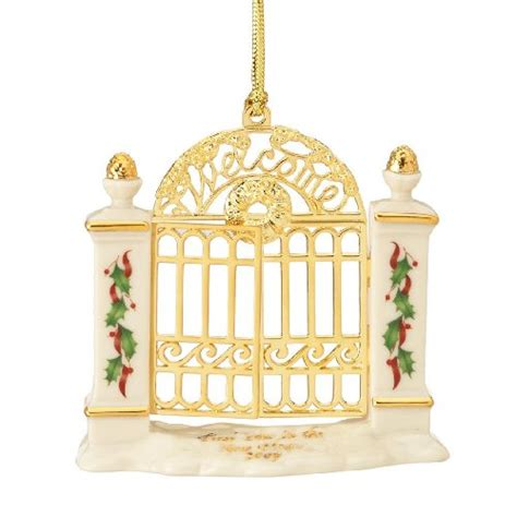 new home ornaments lenox year in new home gate ornament