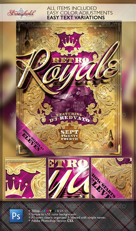 Retro Royal Clubyer Template Graphicriver