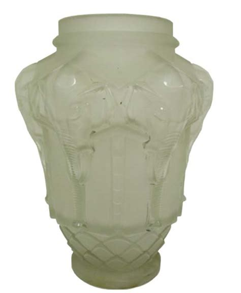 Frosted Glass Vase Edmond Etling Frosted Glass Vase Modernismetling Vase
