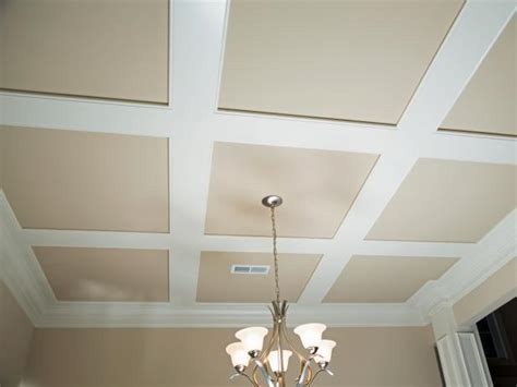 Step Ceiling Design How To Install Grasscloth On A Coffered Ceiling Hgtv