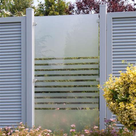 Sichtschutz Garten 120 Cm Hoch by Glas Sichtschutzzaun Streifen