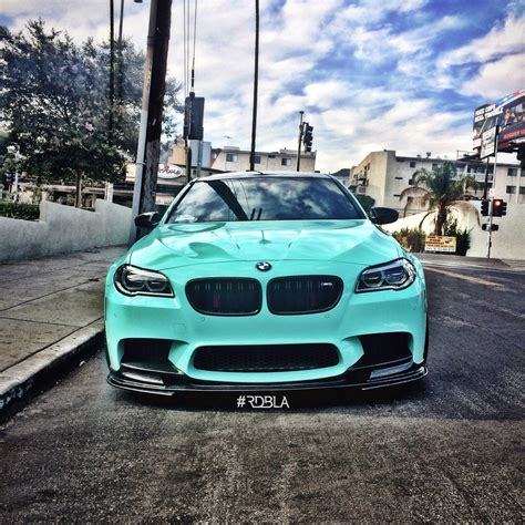 custom bmw m5 rdbla bmw m5 custom light teal blue copper wheels more