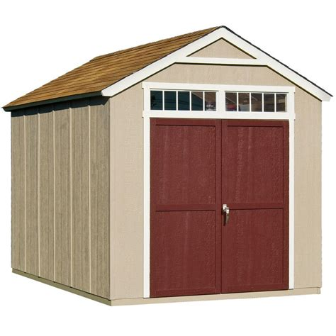 handy home products majestic  ft   ft wood storage