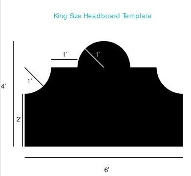 headboard templates the o jays king size headboard and therapy on pinterest