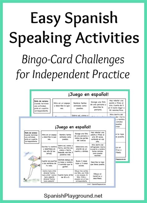 printable spanish games easy spanish speaking activities for independent practice