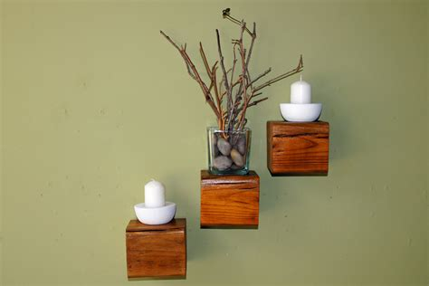 reclaimed wood floating cube shelves set of 3 by rdsoifer
