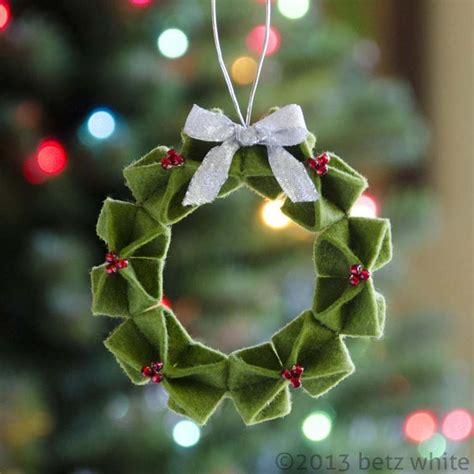 Money Origami Wreath - felt origami wreath ornament by betz white craftsy
