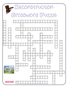 Reconstruction After The Civil War Worksheets by Reconstruction Crossword Puzzle By Larock S Lessons Tpt