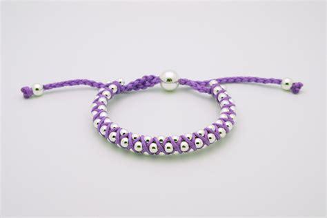 friendship bracelets with link friendship bracelets purple silver by