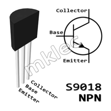 npn transistor which pin is which s9018 npn transistor