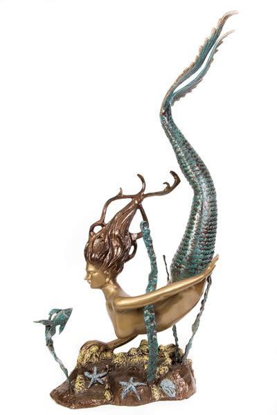 metal swimming mermaid sculpture globe imports