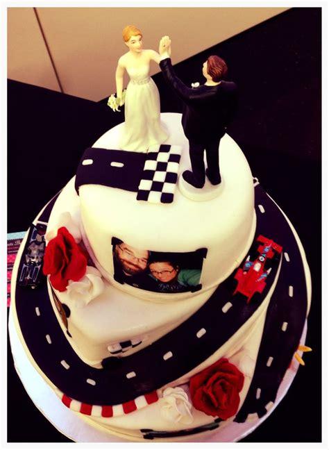 racing car wedding cake winding road  cakes