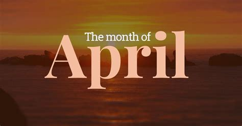 april fourth month   year