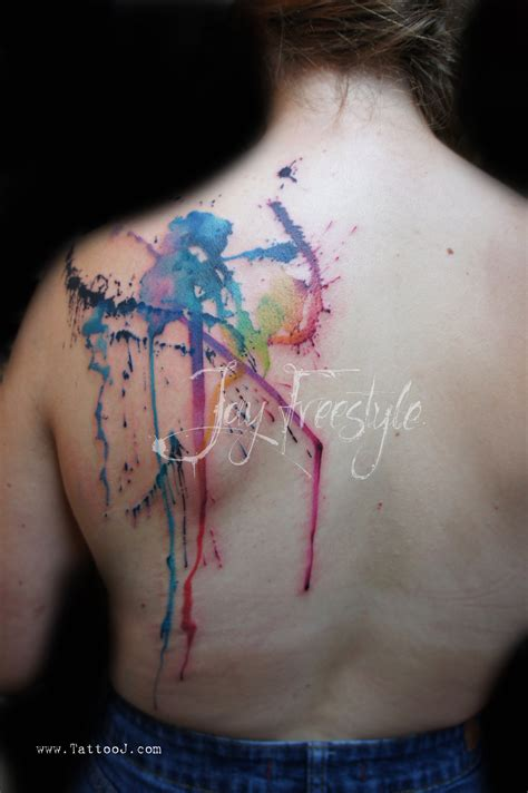 color splash tattoos