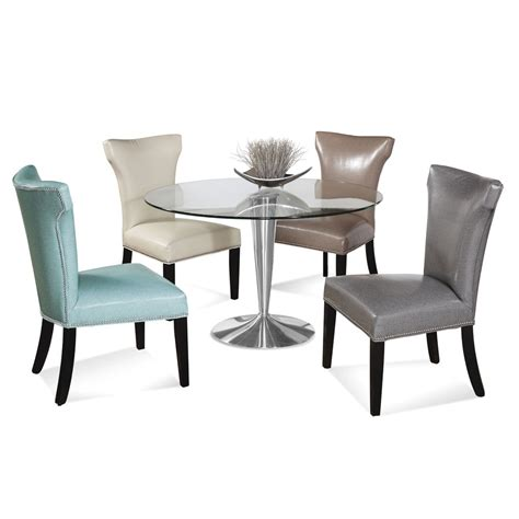 chrome dining room sets bassett mirror concorde 5 piece round dining room set w