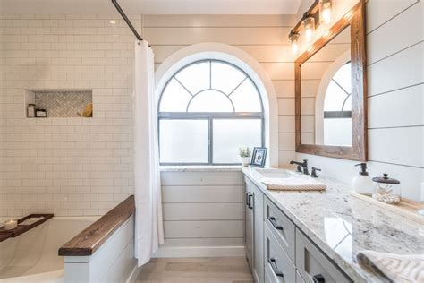Colonial Home Decorating by Modern Farmhouse Bathroom Before Amp After Irwin Construction