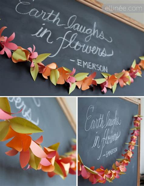 paper flower garland template three paper garland decorations