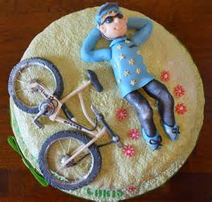 This cake was designed for a mountain bike fan for his 50th birthday