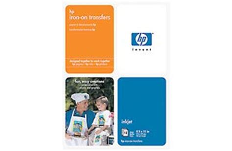 laser printer iron on transfer paper office max amazon com hp iron on transfers 8 5 x 11 inch 12 pack
