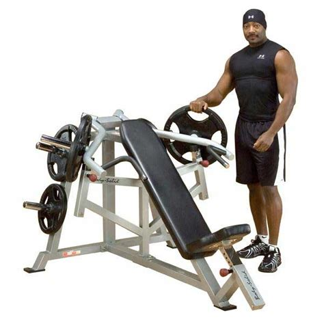 at home bench press body solid leverage incline bench press at home fitness
