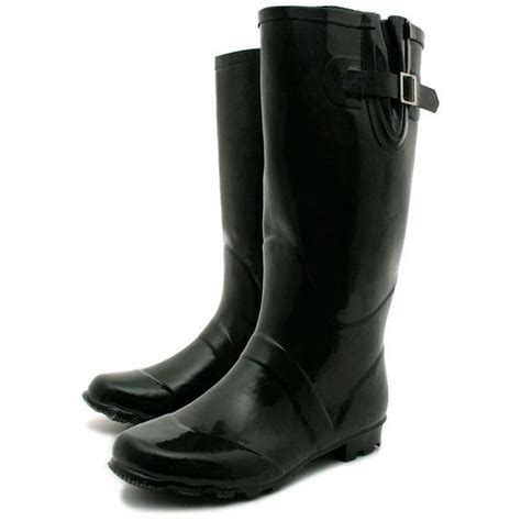 womens snow welly wellington flat wide calf boots