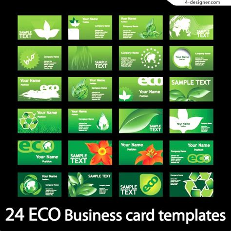 Green Themed Business Card Template by 4 Designer Green Theme Business Card Template Vector