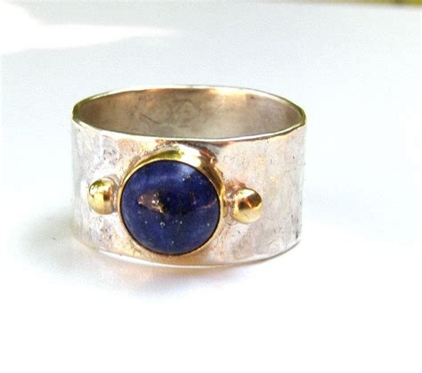 Handmade Silver And Gold Rings - handmade engagement ring 14k gold ring silver ring