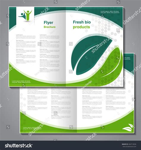 layout design nature vector natural brochure design nature bio stock vector