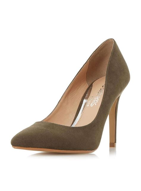 heels by dune green high heel shoes