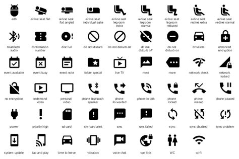 Android Notification Symbols by Design Elements Android System Icons Notification