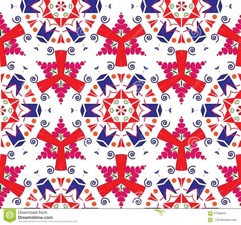 pattern warm color anise stars seamless vector pattern in warm colors stock