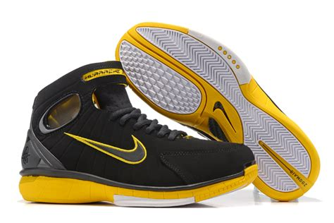 nike huarache 2k4 basketball shoes nike air zoom huarache 2k4 black yellow