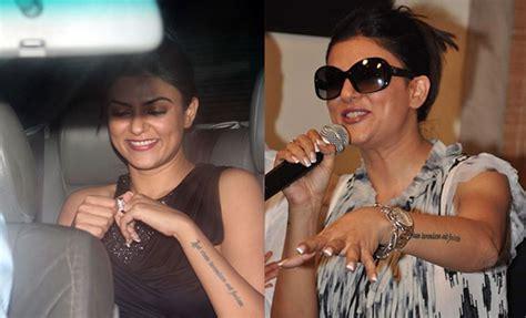 sushmita sen tattoo images get inked the celebrity way