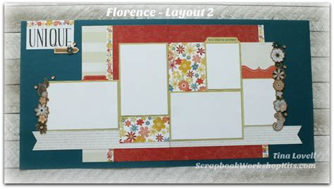 2 page scrapbook layout kits scrapbooking kits florence 6 page scrapbook kit sold out