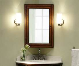 Corner Bathroom Cabinet Mirror Carlton 37 Inch Corner Bathroom Vanity Cherry Veneer Finish