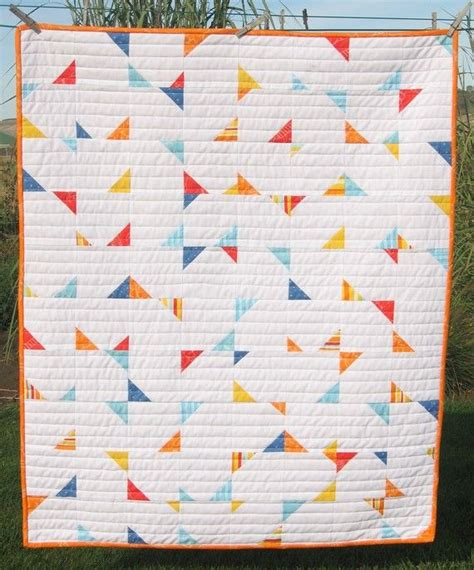 pattern for triangle baby quilt pdf pattern confetti crib baby geometric triangle quilt