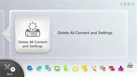 format video wii how to delete all content settings format nintendo