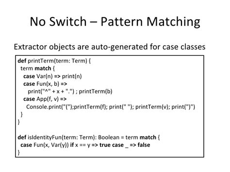 scala pattern matching assign name scala introduction