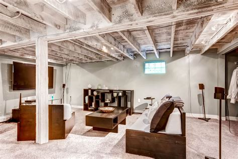 Home Designer Pro Loft by Contemporary Basement With Carpet Amp High Ceiling In Denver