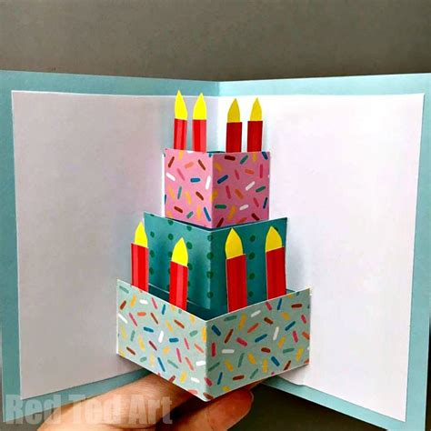 How To Make A Birthday Card Out Of White Paper
